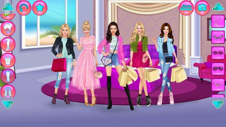 Одевалка Модные Покупки