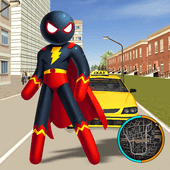 Superhero Stickman Rope Hero Gangstar Crime Mafia Версия: 1.2
